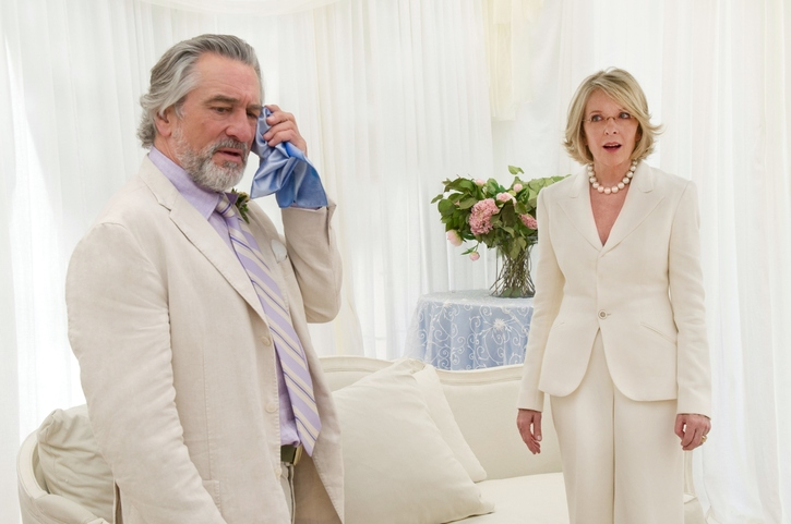 Don (Robert De Niro) and  Ellie (Diane Keaton) in THE BIG WEDDING. Photo credit: Barry Wetcher