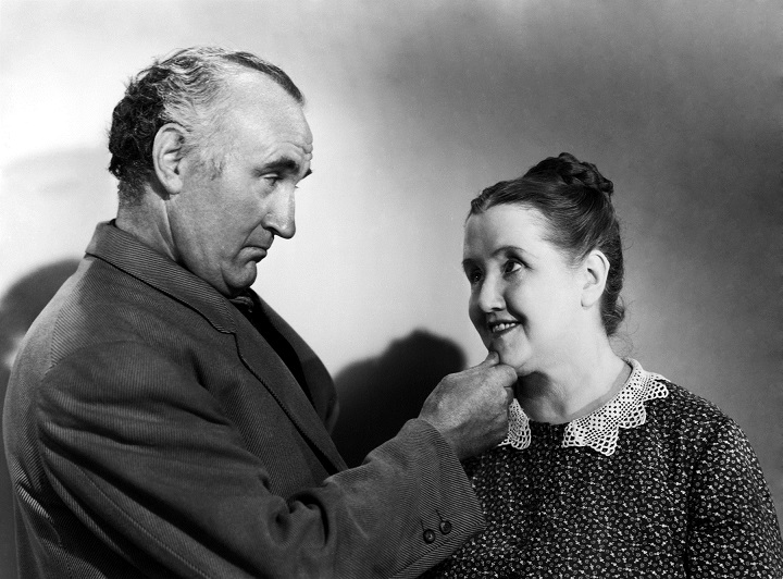 "Donald Crisp, shown here with Best Supporting Actress nominee Sara Allgood, won the Best Supporting Actor Oscar® for his role as family patriarch, Gwilym Morgan, in the 1941 film ""How Green Was My Valley,"" which also won the Oscar for Best Picture. Restored by Nick & jane for Dr. Macro's High Quality Movie Scans Website: http:www.doctormacro.com. Enjoy!"