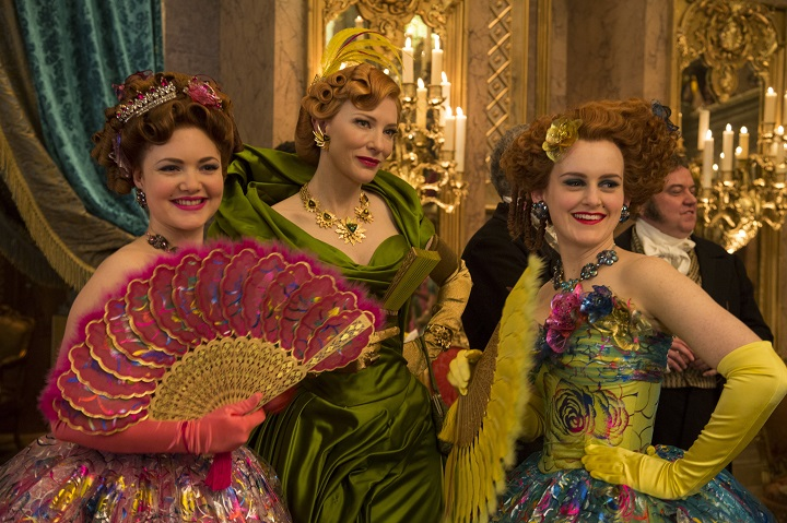 Holliday Grainger is Anastasia, Cate Blanchett is the Stepmother and Sophie McShera is Drisella in Disney's live-action feature CINDERELLA which brings to life the timeless images from Disney's 1950 animated masterpiece as fully-realized characters in a visually dazzling spectacle for a whole new generation.