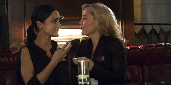 WARNING: Embargoed for publication until: 18/11/2014 - Programme Name: The Fall - TX: n/a - Episode: n/a (No. 3) - Picture Shows: ***STRICTLY EMBARGOED UNTIL 00.01 TUE 18TH NOVEMBER 2014*** Reed Smith (ARCHIE PANJABI), DSI Stella Gibson (GILLIAN ANDERSON) - (C) The Fall S2 Ltd - Photographer: Helen Sloan